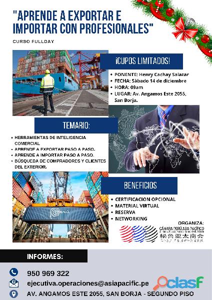 Curso fullday Aprende a exportar e importar con profesionales