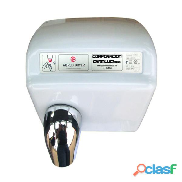 Secador de mano automático blanco 2300 w marca world dryer