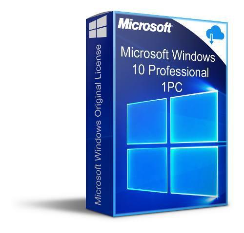 Licencia windows 10 professional. 1 pc permanente