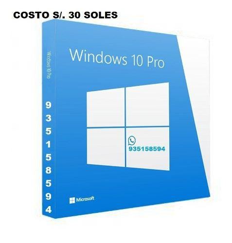 Windows 10 pro 32 - 64 bits licencia original digital