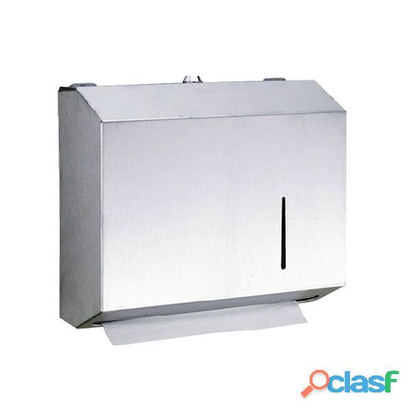 Dispensador de papel toalla interfoliado acero inoxidable
