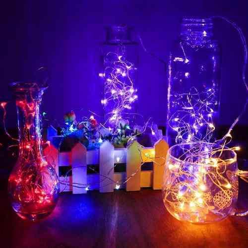 5m luces led multicolor a pilas