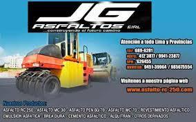 Asfaltos rc-250 por cilindro y galones jg afaltos en Lima