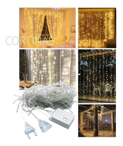 Cortina led 3 x 2 con 320 luces con movimiento