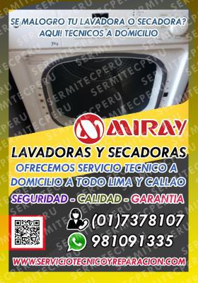 FAST-SERVICIO TECNICO MIRAY -LAVADORAS—Santa Anita 7378107