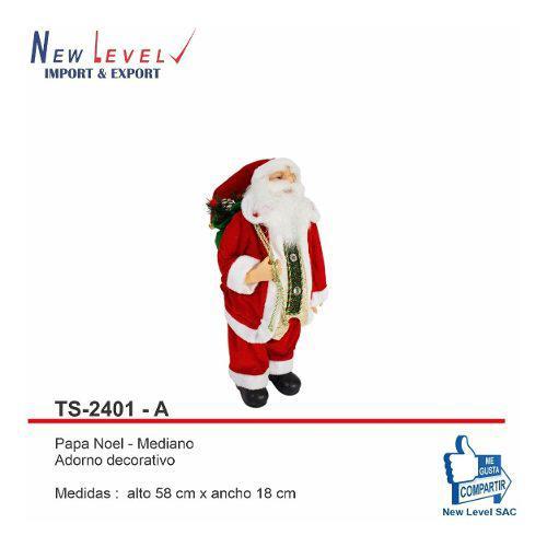 Muñeco Papa Noel, Adorno Navideño Importado
