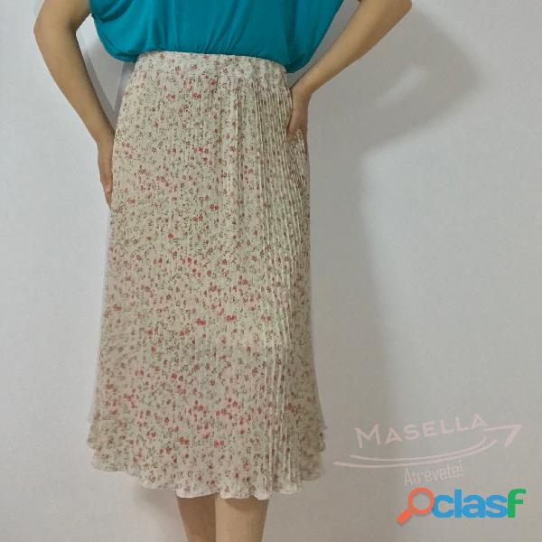 Falda midi plisada 2