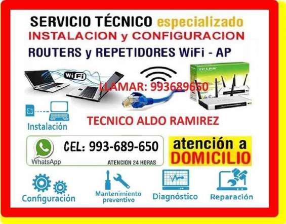 Tecnico en reparacion de internet pc laptops cableados de