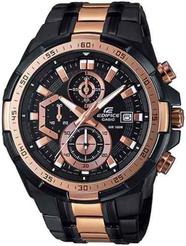 Reloj Casio Edifice Efr-539bkg-1av Nuevo Original - Hombre