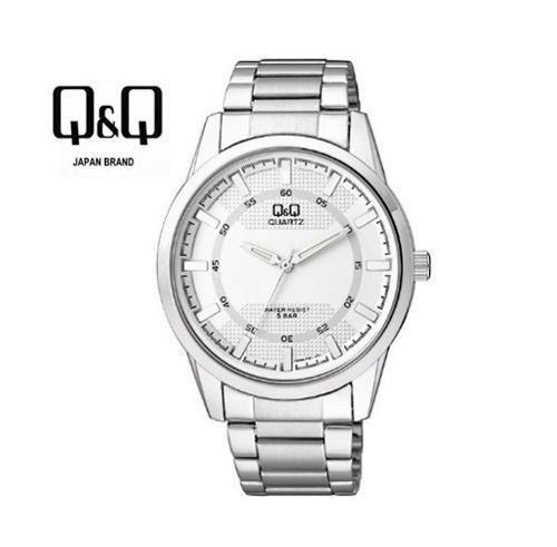 Reloj Q&q Para Hombres De Acero Inoxidable Blanco