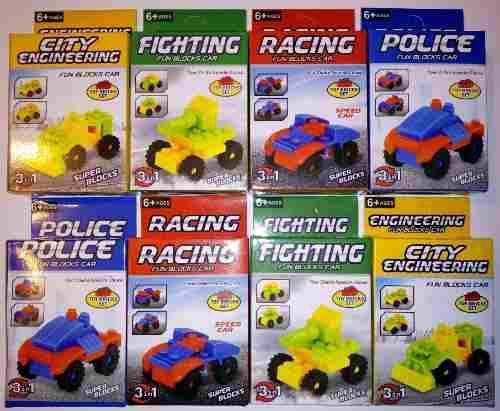 Armables tipo lego de carros carritos autos