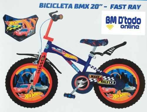 Bicicleta niño bmx hot wheels original aro 20
