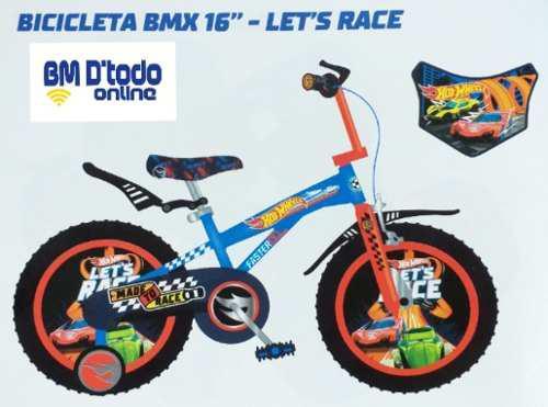 Bicicleta niño bmx hot wheels original lets race aro 16