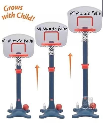 Juegos para niños canasta de basquet movible y regulable