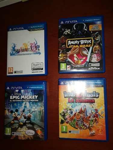 Psvita,epic Mickey,angry Birds, Invizimals, F Fantasy X/x2