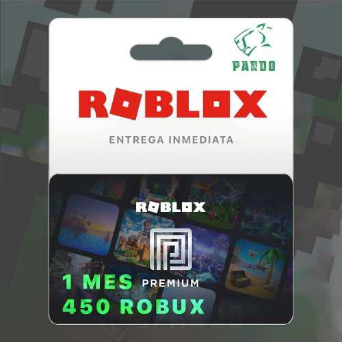 Roblox Premium Suscripción 450 Robux Todas Las Plataformas