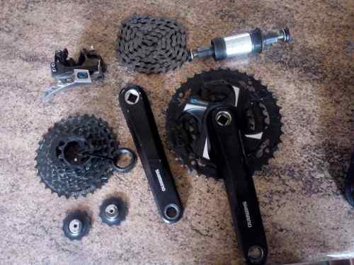 Transmisión Para Bicicleta 3x8 Velocidades