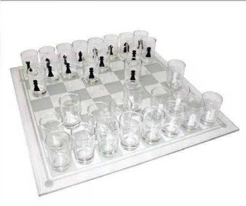 Ajedrez de vidrio tequilero shots tragos glass
