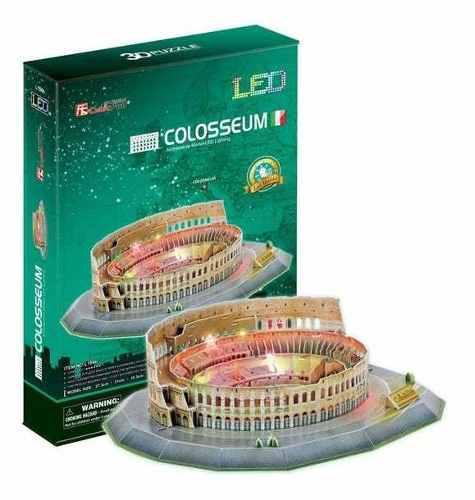 PUZZLE 3D COLISEO ROMANO LED CUBICFUN segunda mano  Arequipa (Arequipa)