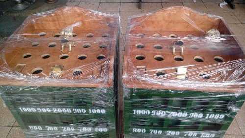 Sapo de madera con 12 fichas de bronce envio a provincia