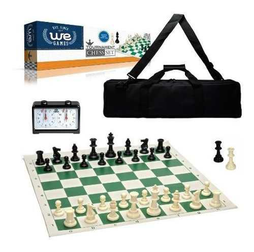 We juegos set completo de deluxe torneo ajedrez, negro bols