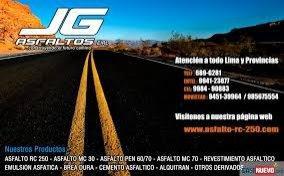 Asfalto rc-250, asfalto mc-30, asfalto mc-70