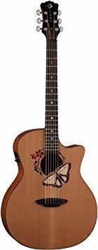 Luna oracle serie mariposa grand acoustic-electric guitarra