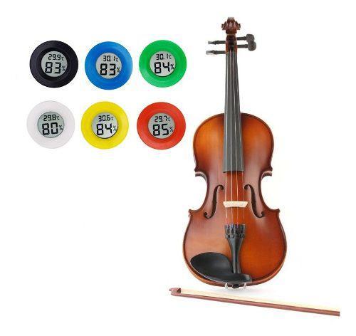 Medidor de humedad y temperatura para violin viola