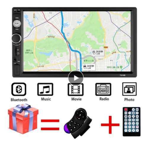 Autoradio 7 hd reproductor multimedia 2din pantalla táctil