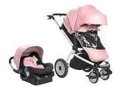 Coche infanti+ asiento auto travel system rosa-epic