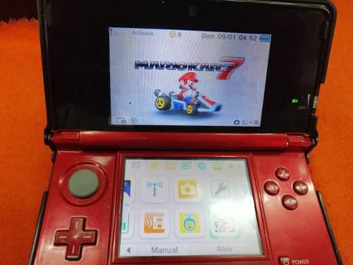 Nintendo 3ds con 32gb memoria 25 juegos incorporados cargado