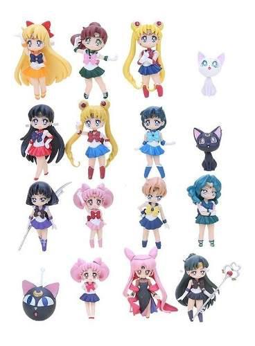 Figura muñeco set anime sailor moon set 12 piezas