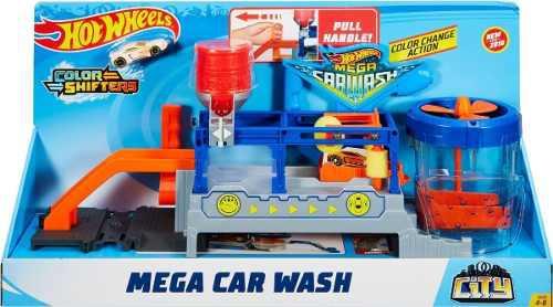 Hot wheels city mega car wash - juego de autolavado original