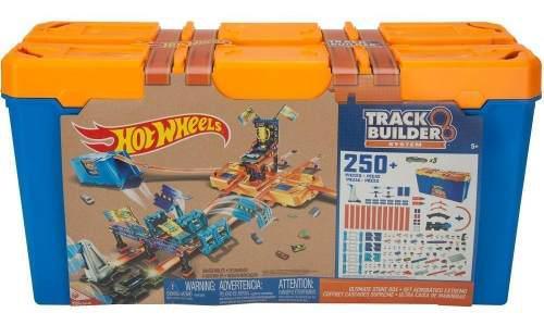 Hot wheels set acrobatico extremo track builder 250 piezas