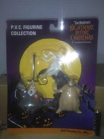 Pack de figuras de pvc - el extraño mundo de jack original