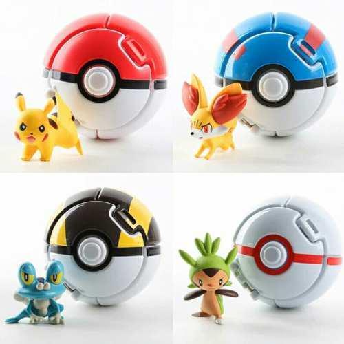 Pokebolas armables con pokemon de regalo