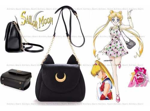 Cartera bolso sailor moon luna japón cuero mujer