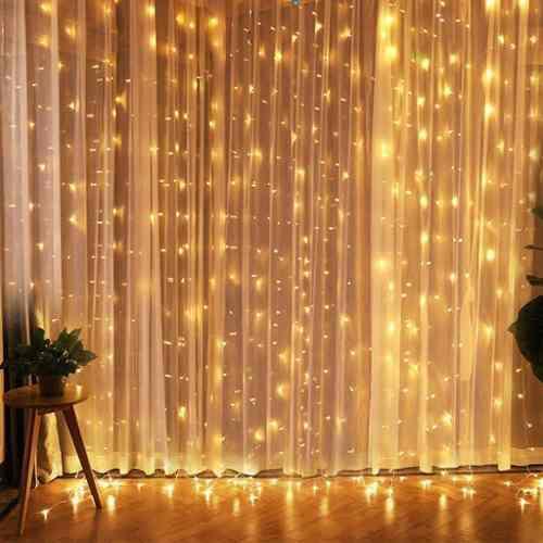 Luces led cortina de luces eventos hogar