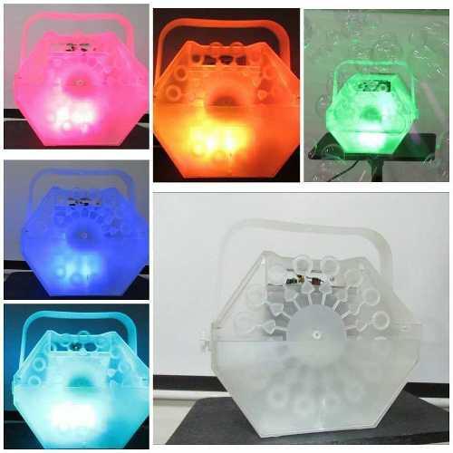 Maquina de burbujas con luces led + control remoto piñata