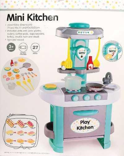 Cocina de juguete para niños chef luz sonido 27 accesorios
