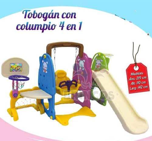 Tobogan con columpio multicolor 4 en 1