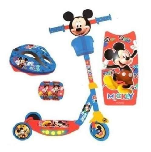 Scooter minnie y mickey mouse + kit de proteccion