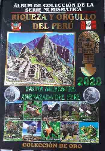 Lbum tipo libro monedas peru 2 colecciones (vacios x2)