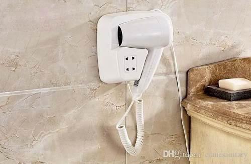 Secadora de pelo/cabello pared hotel empotrable stock lince