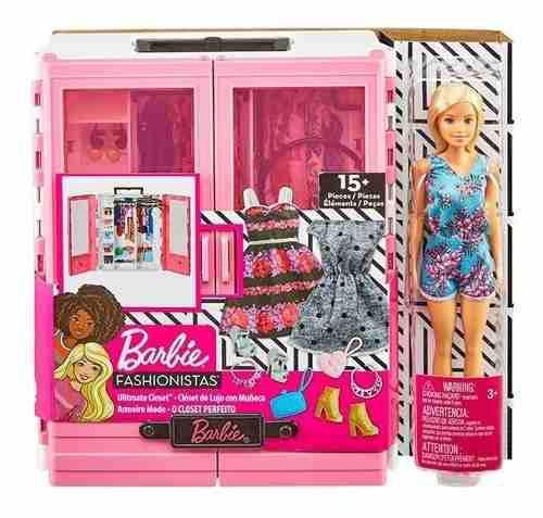 Barbie closet de lujo fashionistas muñeca y accesorios