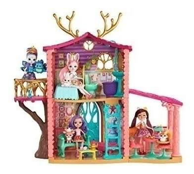 Enchantimals super casa del bosque + muñeca y accesorios