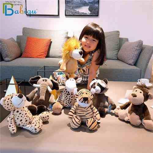 Peluches safari animales del safari, león, elefante, tigre,