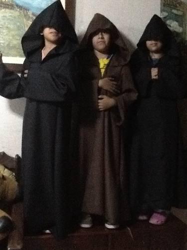 Star Wars Capa De Jedi-sith Tunicas Niño En Talla 4-6-8-14