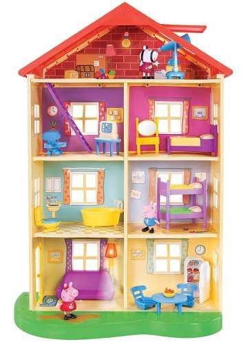 Super casa familiar peppa pig luces y sonidos - multicolor