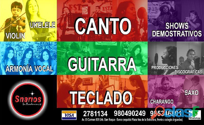 Clases de piano / teclado / guitarra / ukelele